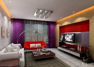 简约风格二居室3万以下60平米客厅茶几三口之家家装图片