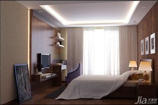 简约风格二居室3万以下60平米卧室床三口之家家装图片