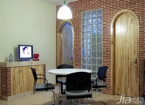 混搭风格小户型3万以下60平米餐厅餐厅背景墙餐桌效果图