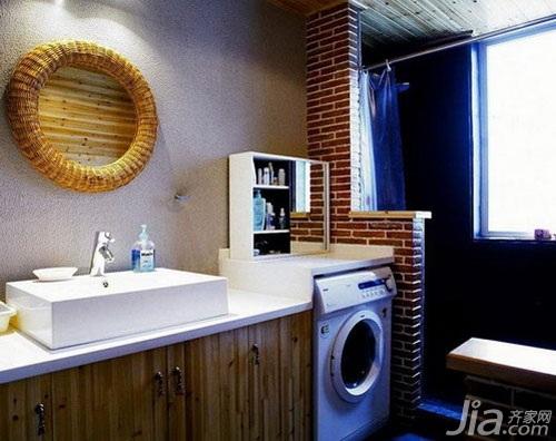 混搭风格小户型3万以下60平米卫生间洗手台效果图