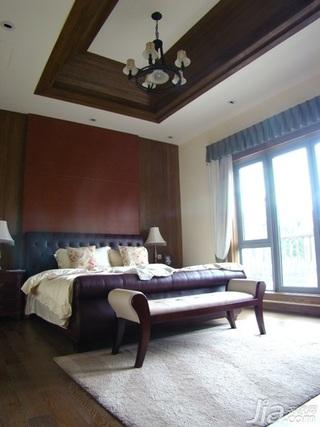 新古典风格别墅大气15-20万100平米卧室床婚房平面图