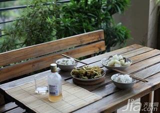 日式风格四房富裕型60平米阳台餐桌新房家装图