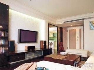 欧式风格别墅富裕型110平米客厅茶几新房平面图