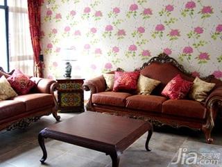 中式风格别墅富裕型110平米客厅沙发婚房平面图