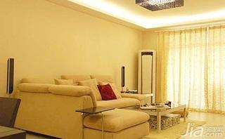 欧式风格二居室客厅沙发婚房家装图