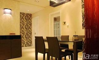 欧式风格二居室餐桌婚房设计图纸