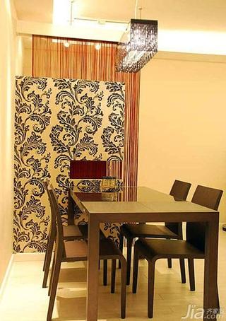 欧式风格二居室餐厅隔断灯具婚房设计图纸