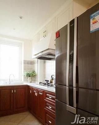 中式风格复式实用富裕型90平米厨房橱柜新房家装图