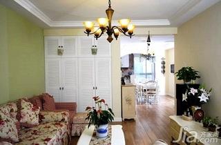 田园风格复式富裕型90平米客厅沙发新房家装图