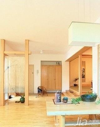日式风格复式富裕型80平米隔断新房家装图