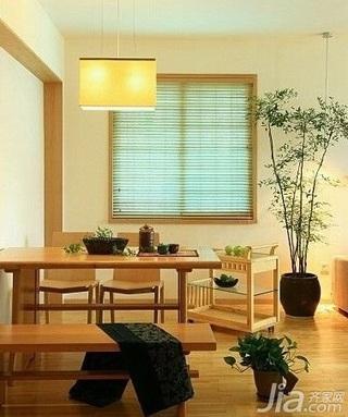 日式风格复式富裕型80平米餐厅餐桌新房家装图