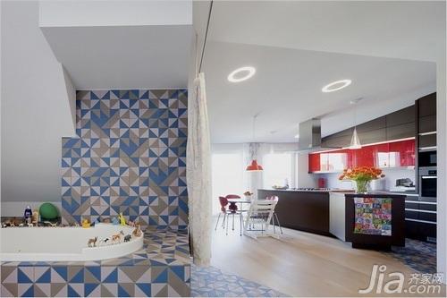 欧式风格复式绿色富裕型110平米书房新房设计图