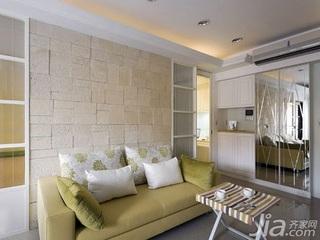 欧式风格一居室5-10万60平米客厅沙发背景墙茶几新房设计图