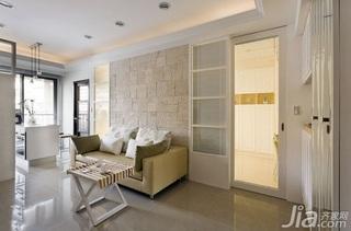 欧式风格一居室5-10万60平米客厅沙发背景墙沙发新房家装图片