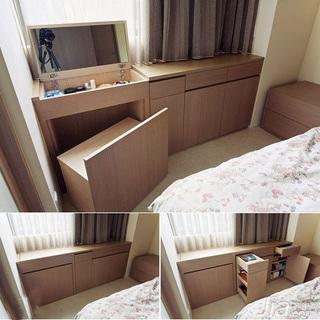 简约风格二居室5-10万60平米客厅飘窗新房平面图