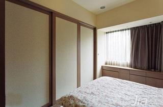 简约风格二居室5-10万60平米客厅飘窗衣柜新房家装图