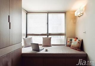 简约风格二居室5-10万60平米客厅飘窗新房家装图片