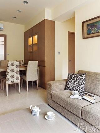 简约风格二居室5-10万60平米客厅沙发新房家居图片