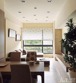 简约风格二居室5-10万60平米客厅餐桌新房设计图