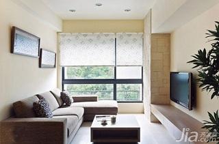 简约风格二居室5-10万60平米客厅沙发新房家装图片