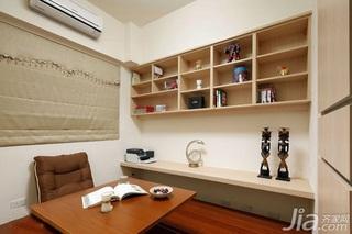 简约风格二居室5-10万70平米玄关地台书架新房设计图