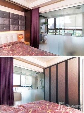 简约风格二居室5-10万50平米客厅窗帘新房平面图