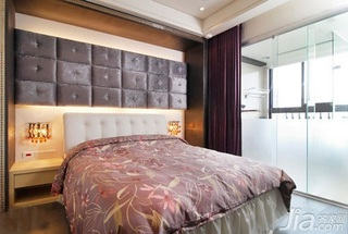 简约风格二居室5-10万50平米客厅床新房平面图