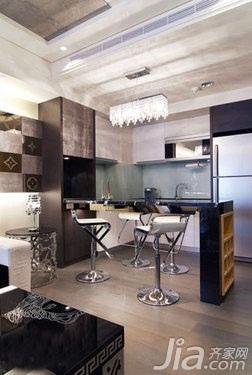 简约风格二居室5-10万50平米客厅吧台吧台椅新房家装图
