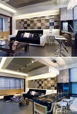 简约风格二居室5-10万50平米客厅新房家装图片
