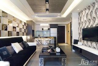 简约风格二居室5-10万50平米客厅电视背景墙沙发新房家装图