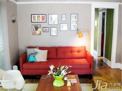 简约风格二居室5-10万60平米玄关照片墙沙发婚房家装图
