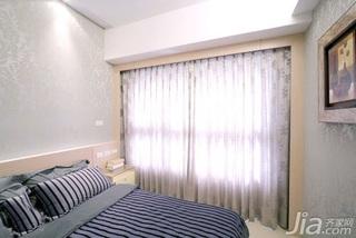 简约风格二居室5-10万60平米玄关窗帘新房家装图片