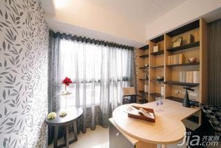 简约风格二居室5-10万60平米玄关书架新房家居图片