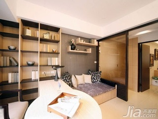 简约风格二居室5-10万60平米玄关书桌新房家居图片