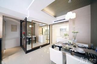 简约风格二居室5-10万60平米玄关吊顶餐桌新房家居图片