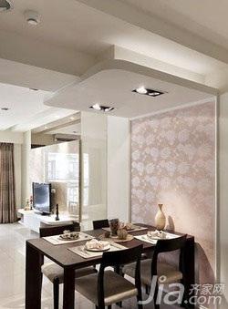 中式风格二居室5-10万60平米玄关餐桌新房设计图纸