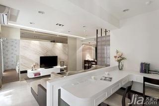 中式风格二居室5-10万60平米玄关电视柜新房家装图片
