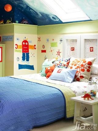 田园风格别墅豪华型120平米儿童房壁纸新房家装图片