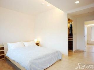 简约风格二居室5-10万70平米玄关床新房家装图片