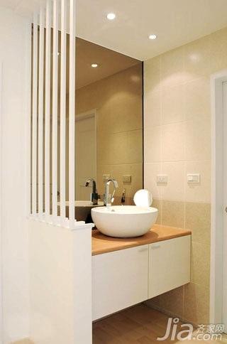 简约风格二居室5-10万70平米玄关洗手台新房家装图