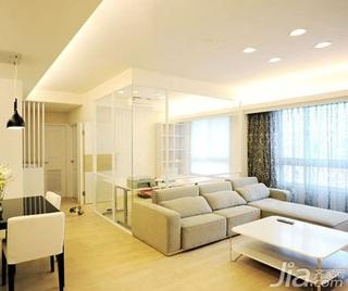 简约风格二居室5-10万70平米玄关窗帘新房设计图