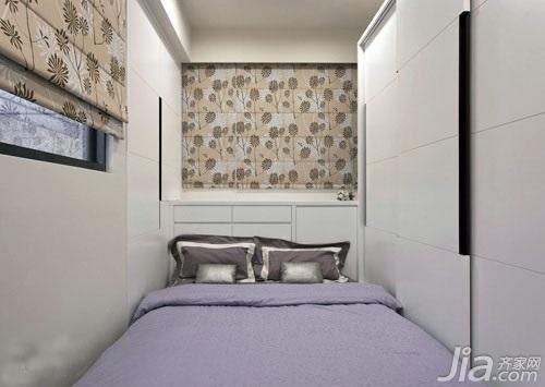 简约风格二居室简洁3万以下60平米玄关床新房家装图