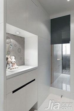 简约风格二居室3万以下60平米客厅鞋柜新房设计图纸