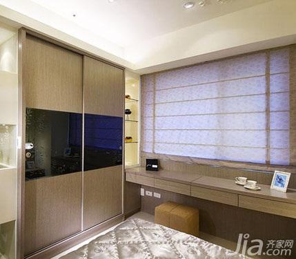 简约风格二居室5-10万60平米玄关衣柜新房设计图纸
