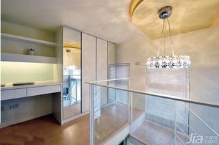 简约风格复式10-15万60平米阁楼楼梯灯具效果图