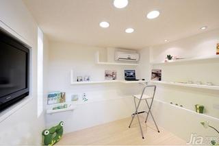 简约风格跃层简洁10-15万60平米阁楼书桌效果图