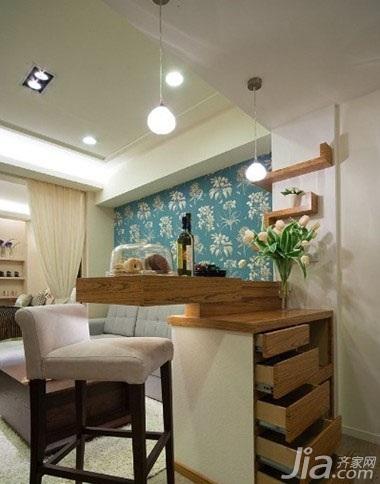 简约风格一居室3万以下50平米玄关吧台吧台椅效果图