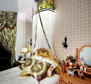 欧式风格复式10-15万90平米玄关床新房家装图片