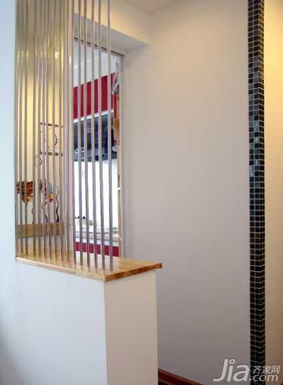 简约风格二居室10-15万70平米玄关隔断新房家装图