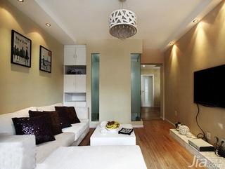 简约风格四房10-15万80平米客厅沙发新房平面图